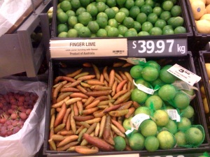 Finger Limes at Woolworths